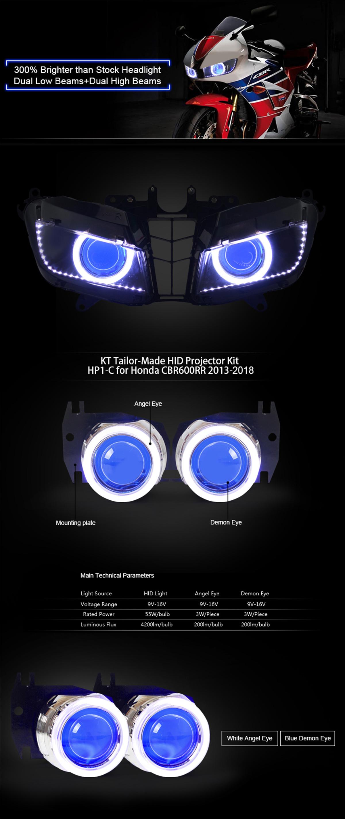 Honda CBR600RR 2013 2014 2015 2016 2017 2018 projector