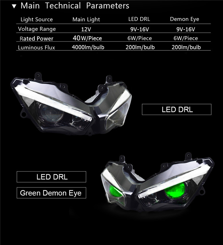 Fit for Kawasaki Versys 1000 Full LED Headlight Assembly 2019