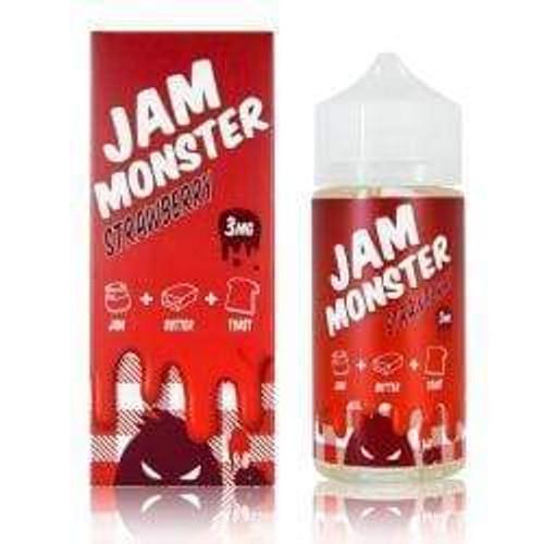 Jam Monster Strawberry E-liquid (100mL) Juice MrVapes Australia