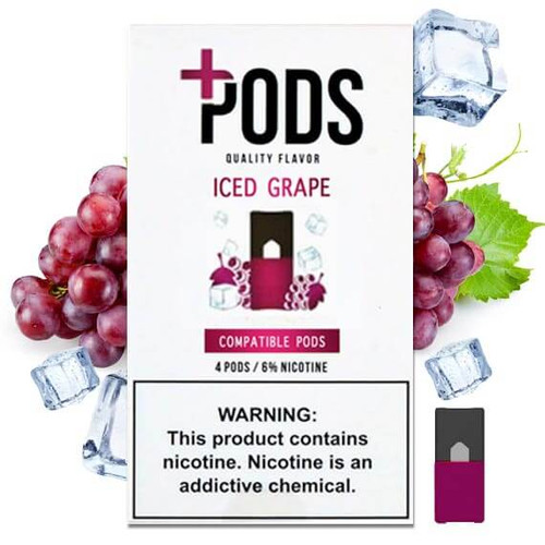 Iced Grape 4 Pack - Plus Pods ePods Mrvapes Australia 1