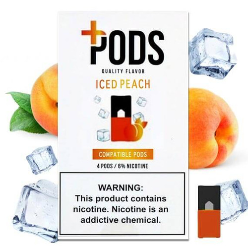 Iced Peach - Plus Pods 4 Pack ePods Mrvapes Australia 1