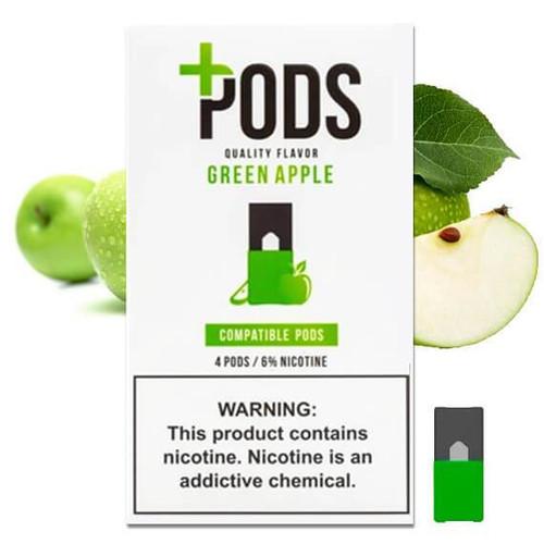 Green Apple Plus Pods 4 Pack ePods Mrvapes Australia 1