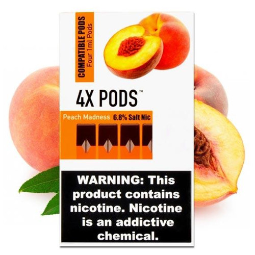 4X Peach Madness 4 Pods Juul Compatible
