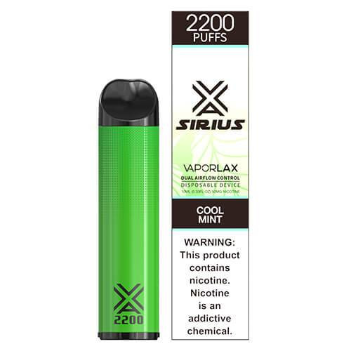 Sirius by VaporLAX - Disposable Vape Device - Cool Mint Disposables Mrvapes Australia 1