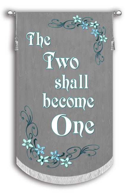 The Two shall become One - Wedding banner