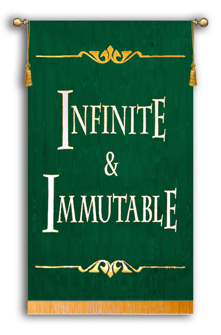 Infinite and Immutable Sanctuary Banner Green Background
