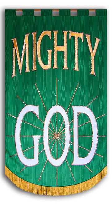 Mighty God church worship banner