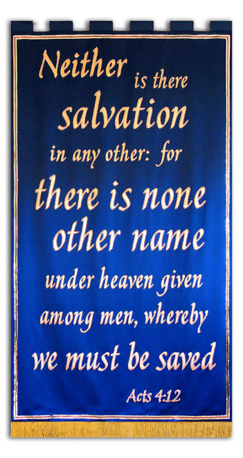 Neither is there salvation in any other name - Acts 4:12 - Chruch Revival Banner