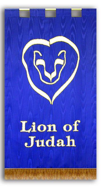 Lion of Judah with Lion Head Sanctuary Banner Set