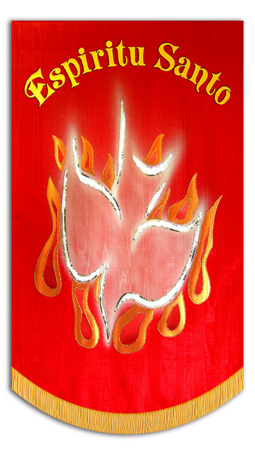 Espiritu Santo - with Dove and Flames