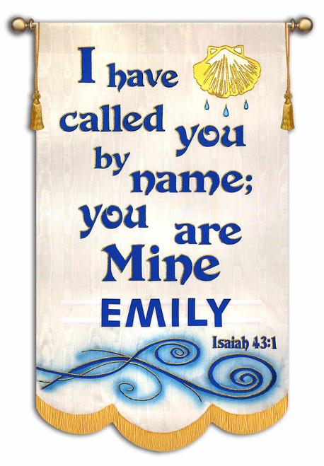 Baptism Banner - Personalize this baptism banner for your church