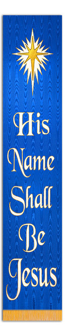 SALE BANNER - HIS NAME SHALL BE JESUS - 4' x 10""