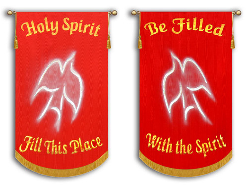 Holy Spirit Fill This Place + Be Filled With the Spirit - 2 Banner SET