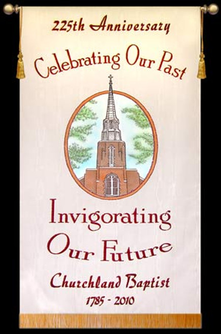 Customized Photo Banner -  Churchland Baptist Anniversary