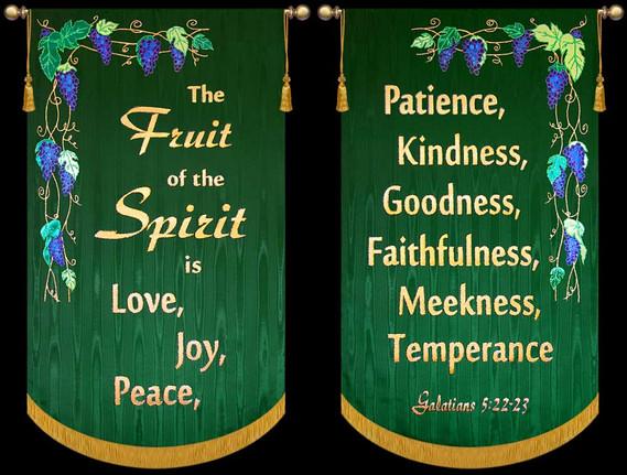 The Fruit of the Spirit 2 Banner Set
