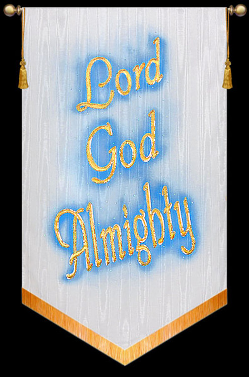 """Church Banner - Lord God Almighty - 5' x 36"""""""