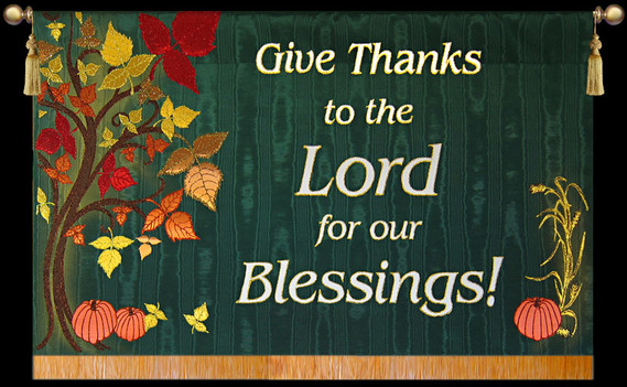 Give Thanks to the Lord for our Blessings! Horizontal