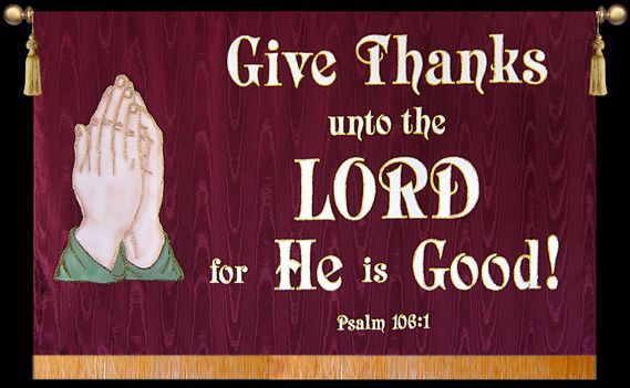 Give Thanks to the Lord with Hands Horizontal