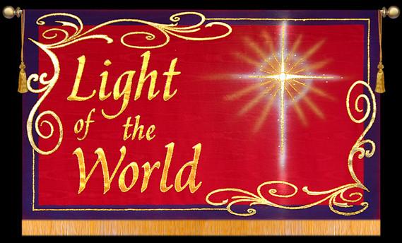 Light of the World with Star - Horizontal Christmas Banner