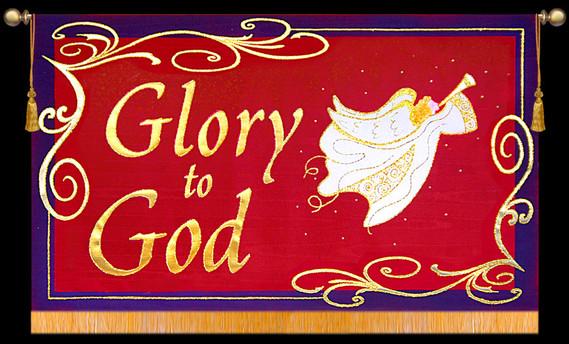 Glory to God with Angel - Horizontal