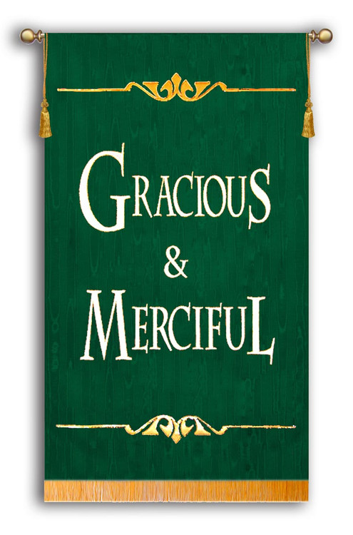 Gracious & Merciful Sanctuary Banner Green Background