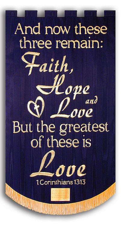 Faith, Hope, & Love Memorial Banner