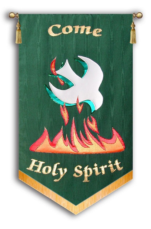 Come Holy Spirit Dove Flames
