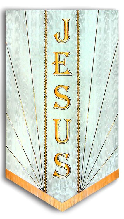 Jesus Traditional Embelished Church Praise Banner
