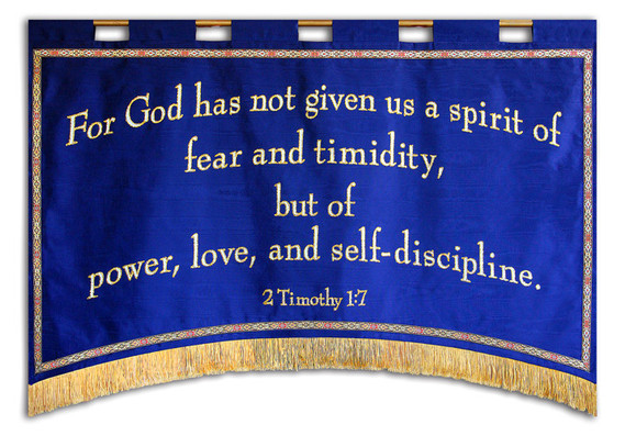 For God has not given us a spirit of fear Horizontal Banner