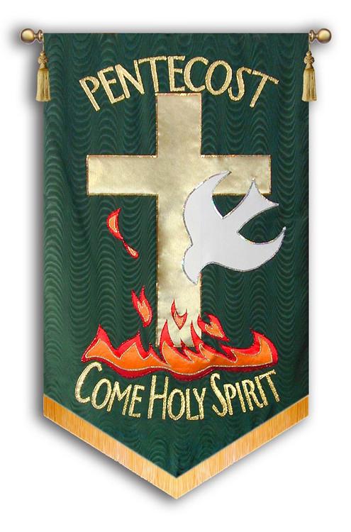 Pentecost come Holy Spirit -Bottom Flames