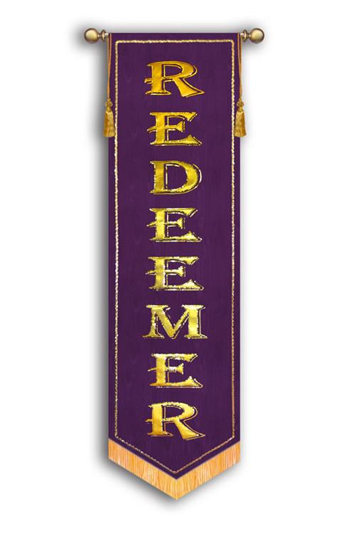 Redeemer - slim Worship Banner