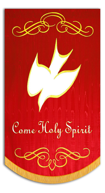 Come Holy Spirit solid Dove with Scrolls 2016