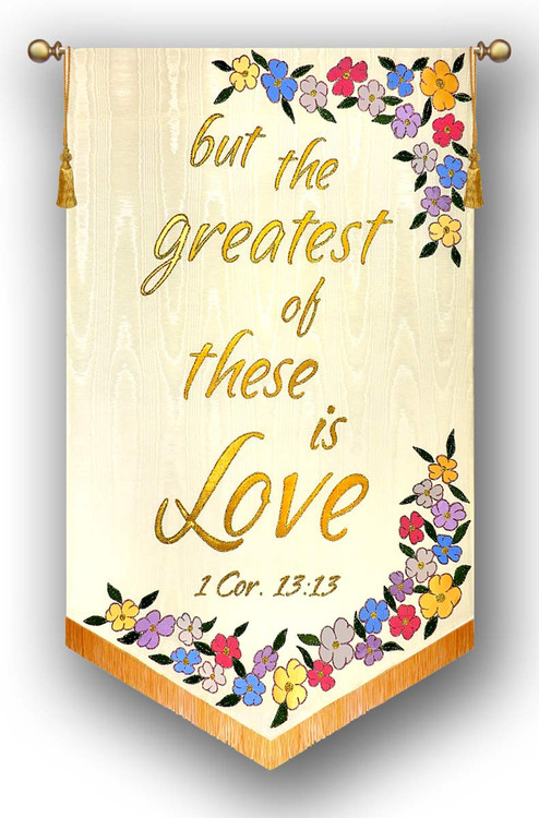 but the greatest of these is Love - Church Wedding Banner