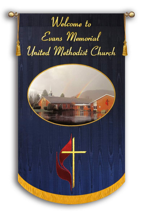 Example - Evans Memorial UMC - Customized Photo Banner