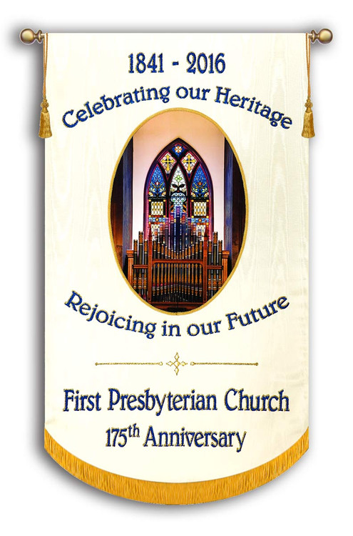Example - 1st Presbyterian Anniversary - Customized Photo Banner