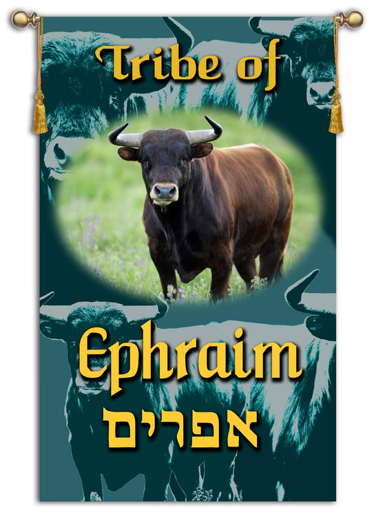 Tribes of Israel - Tribe of Ephraim printed banner - Single Layer