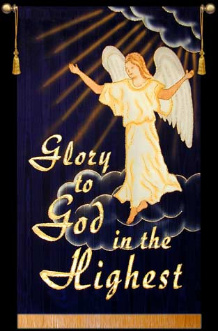 Glory to God in the Highest - religious christmas banners