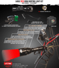 Wicked Lights A48iC Red Bow Hunting Light Kit for Bow Fishing and Night Hunting Coyotes, Foxes, and Hogs