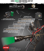 Wicked Lights A48iC Green Bow Hunting Light Kit contents