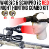 Wicked Lights and Scanpro ic RED night hunting combo kit thumbnail
