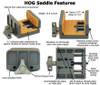 HOG Saddle MOD7, OD Green with Tan Pads