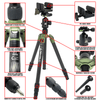 REKON CT-1 Carbon Fiber Tripod with BH-1 Ball head, RTA1 Picatinny to Arca-Swiss Mount, and Pig Saddle Mount