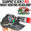 Wicked Lights ScanPro® iC GEN 2 RED LED Night Hunting Headlamp Kit