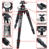 REKON Outdoor Gear™ CT-3HD Carbon Fiber Ambush™ Tripod with BH-3HD Ball Head and RTA2 Picatinny to Arca-Swiss Mount features