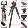 REKON Outdoor Gear™ Optics Optimized CT-3HD Carbon Fiber Ambush™ Tripod with PH-1 Panhead R025