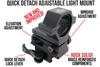 Wicked Lights Gen 4 Quick Detach Adjustable Light Mount with Lock Lever