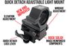 Wicked Lights® Gen 4 Quick Detach Adjustable Light Mount with Lock Lever and Picatinny Scope Mount Combo