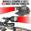 Wicked Lights® W404iC & ScanPro® iC GEN2 Headlamp RED LED Night Hunting Kit for Coyote, Hog, Predator