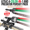 Wicked Lights® A75iC Ambush 4-Color-In-1 Predator Pursuit Signature Series Night Hunting Light Pack for Coyote, Hog, Predator (W2084)