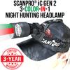 Wicked Lights® ScanPro® iC 3-N-1 GEN 2 Night Hunting Headlamp W2069